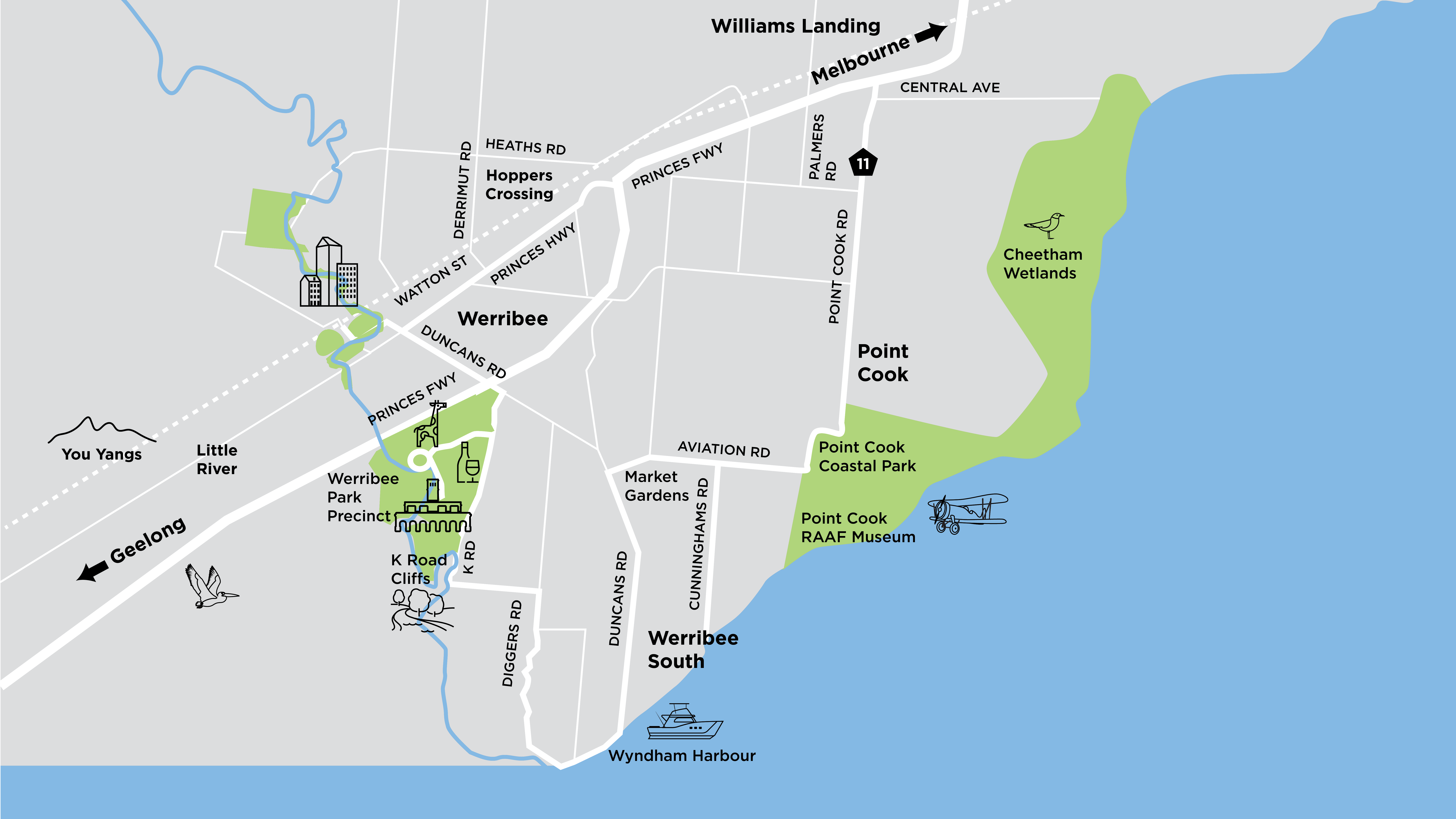 Map of Werribee & Surrounds