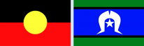 Aboriginal flag and Torres Strait Islander flag